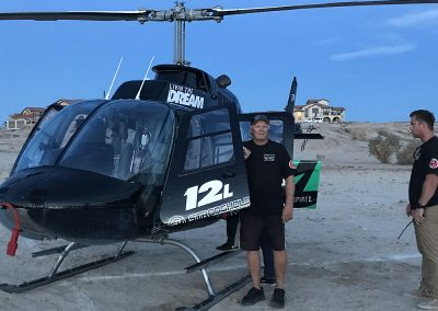 Chris Haines with Helo
